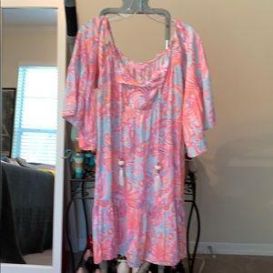 Lilly Pulitzer cold shoulder dress